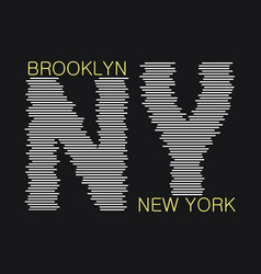 New york typography graphics vector