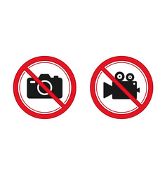 no photography and video recording sign red vector image