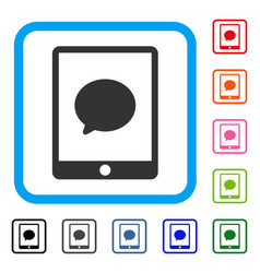 pad chat message framed icon vector image