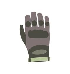 Paintball glove flat icon vector