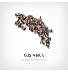 people map country Costa Rica vector image