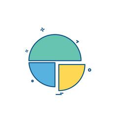 pie chart icon design vector image