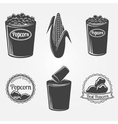Popcorn logo or signs vector