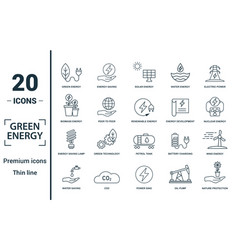 power and energy icon set include creative vector image