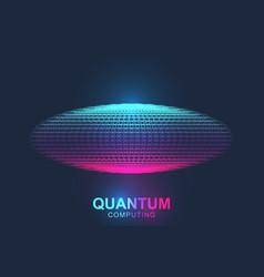 quantum computer technology concept sphere vector image