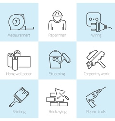 Repair home icons vector