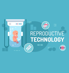 reproductive technology vector image