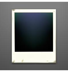 Retro photo frame on dark background vector image