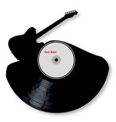 rock music silhouette record vector image