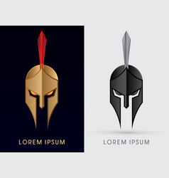 roman or greek helmet spartan helmet head vector image