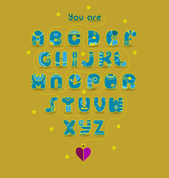 Romantic cipher text you are my king vector