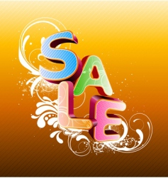 Sale styled design vector