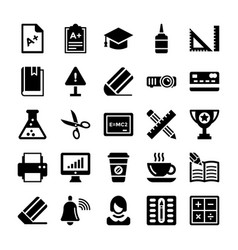 School and education icons 1 vector