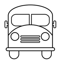 school bus icon outline line style vector image