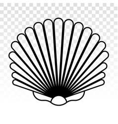 Sea shells shellfish line art icons for apps vector