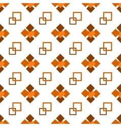 Seamless repeating pattern brown squares vector