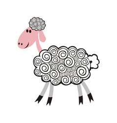 Sheep pattern vector image
