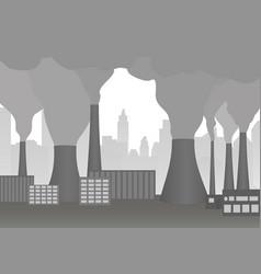 smoking chimneys of plant vector image