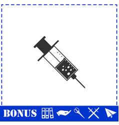 Syringe icon flat vector