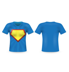t-shirt in superhero style on a white background vector image