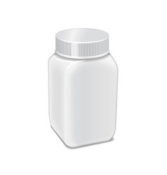 template of white plastic bottle with screw vector image