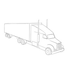 truck symbol logistics international transport vector image