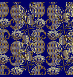 vintage paisley 3d seamless pattern vector image