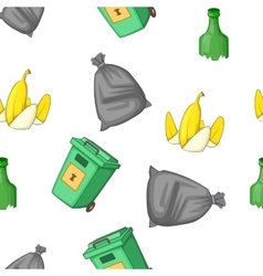 Waste pattern cartoon style vector image