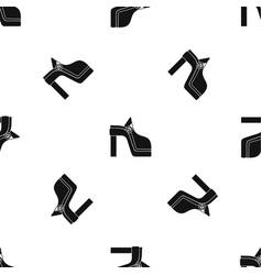women shoe pattern seamless black vector image