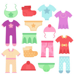 baby clothes kids colorful and bright bodysuits vector image vector image