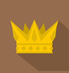 Cog crown icon flat style vector