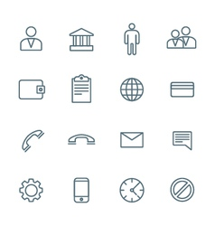 dark outline various social network icons set vector image