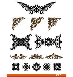 Elegance decorative set vector image vector image