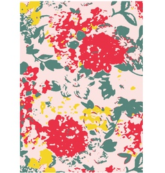 floral astract pattern vector image