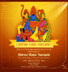 lord ram sita laxmana hanuman and ravana in ram vector image