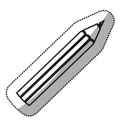 monochrome sticker silhouette with pencil vector image