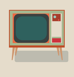 old tv of the good old retro tv vector image vector image