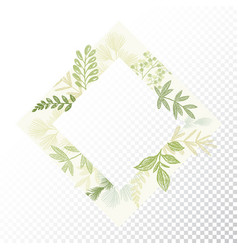 rhomb floral decorative frame vector image vector image