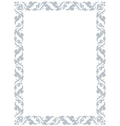 thai pattern frame vector image