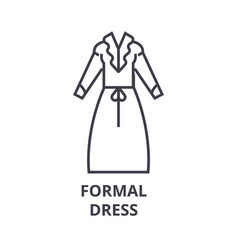 formal dress line icon outline sign linear vector image