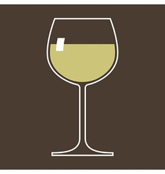 Glass of white wine vector image vector image