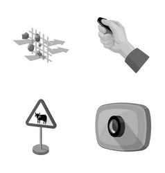 protection tools attributes and other monochrome vector image
