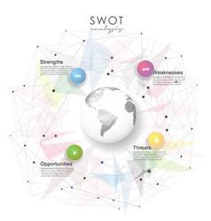swot - strengths weaknesses opportunities vector image vector image
