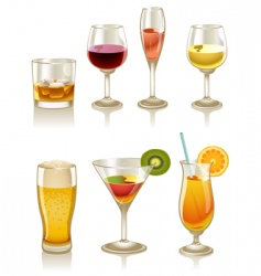 cocktails and drinks vector image vector image