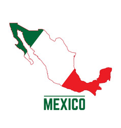 flag and map of mexico vector image vector image