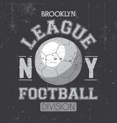 brooklyn league poster vector image