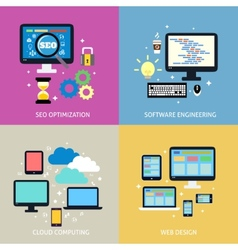 Business process concept flat vector image