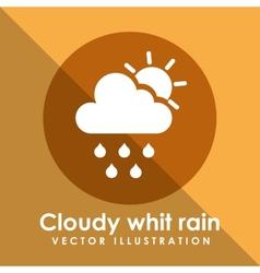 cloudy white rain icon design vector image