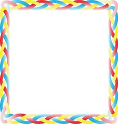 Color box braid vector image vector image