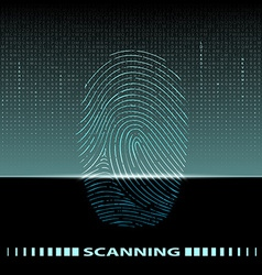 fingerprint scan vector image